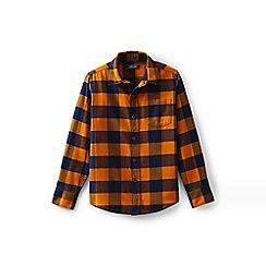 Lands' End - Orange boys' flannel shirt