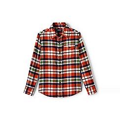 Lands' End - Boys' orange flannel shirt