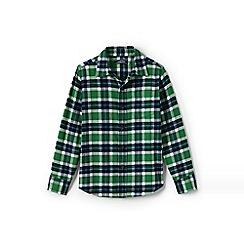 Lands' End - Green boys' flannel shirt