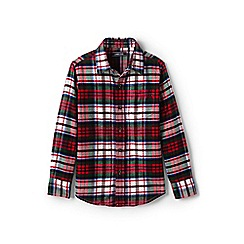 Lands' End - Red boys' flannel shirt
