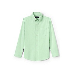 Lands' End - Boys' green washed oxford long sleeve shirt