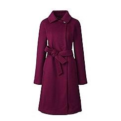 Lands' End - Red wool blend wrap coat