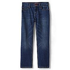 Lands' End - Boys' blue classic fit iron knee jeans