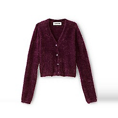 Lands' End - Girls' red long sleeve v-neck cardigan