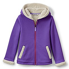 Lands' End - Purple girls' a-line sherpa hoodie