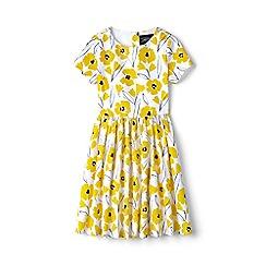 Lands' End - Girls' yellow sateen twirl dress