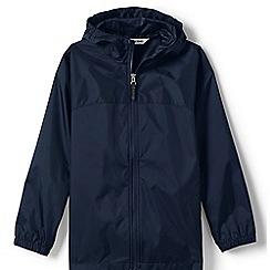 Lands' End - Blue boys' navigator packable rain coat