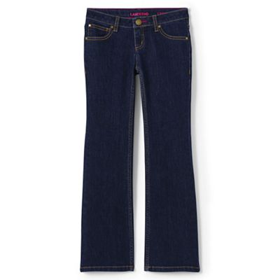 79866b1fd20 Lands' End Girls' blue 5 pocket bootcut jean | Debenhams