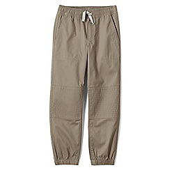 Lands' End - Boys' beige iron knee woven joggers
