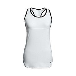 Lands' End - White leisure sport speed running vest top