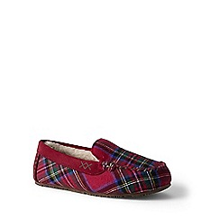 Lands' End - Red suede moccasin slippers
