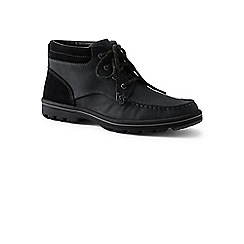 Lands' End - Black lightweight comfort lace-up boots