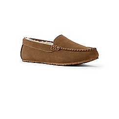Lands' End - Beige moccasin slippers