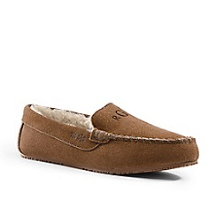 Lands' End - Brown moccasin slippers