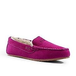 Lands' End - Pink moccasin slippers