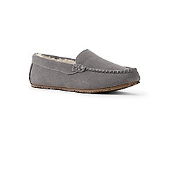 Lands' End - Grey moccasin slippers