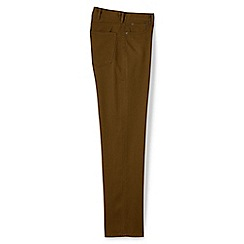 Lands' End - Brown coloured regular fit jeans