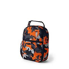 Lands' End - Orange print classmate soft side lunch box