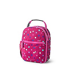 Lands' End - Pink print classmate soft side lunch box