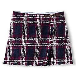 Lands' End - Black girls' fringed wrap skirt