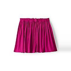Lands' End - Girls' pink gathered cord skirt