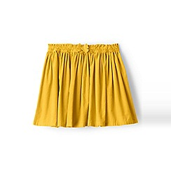 Lands' End - Girls' yellow gathered cord skirt