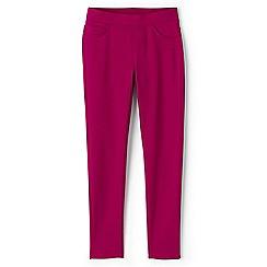 Lands' End - Girls' pink pull-on ponte jersey jeggings