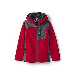 Lands' End - Boys' red bonded fleece jacket