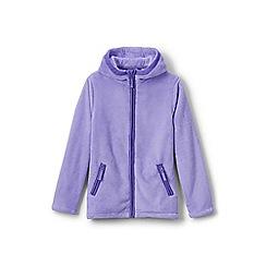 Lands' End - Girls' purple softest fleece jacket