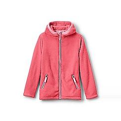 Lands' End - Red girls' softest fleece jacket