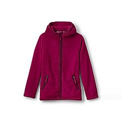 Lands' End - Girls' pink softest fleece jacket