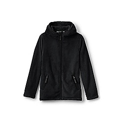 Lands' End - Black girls' softest fleece jacket