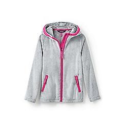 Lands' End - Grey girls' softest fleece jacket