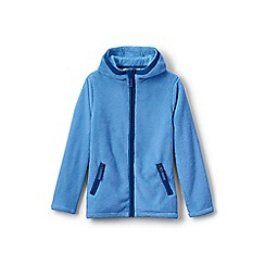 Lands' End - Blue girls' softest fleece jacket