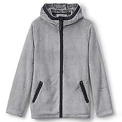 Lands' End - Girls' grey softest fleece jacket