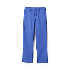 Lands' End - Blue Boys' Iron Knees Pure Cotton Chino Trousers