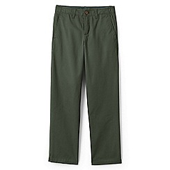 Lands' End - Green Boys' Iron Knees Chino Trousers