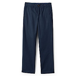 Lands' End - Boys' blue iron knee cadet trousers