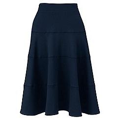 Lands' End - Blue ponte jersey seamed skirt