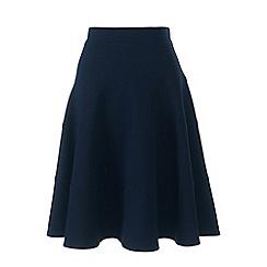 Lands' End - Blue petite ponte jersey seamed skirt