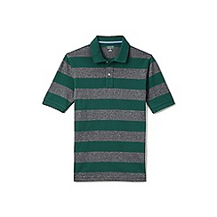 Lands' End - Green regular wide stripe traditional fit pique polo