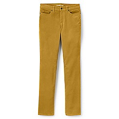 Lands' End - Yellow mid rise straight leg cord jeans