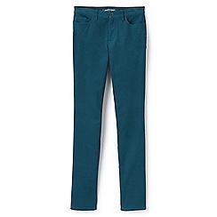 Lands' End - Blue mid rise slim leg cord jeans