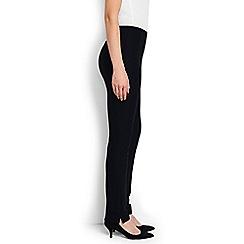 Lands' End - Black regular mid rise bi-stretch trousers
