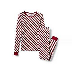 Lands' End - Red girls' snug fit patterned pyjama set