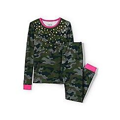 Lands' End - Grey girls' snug fit graphic pyjama set