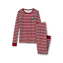 Lands' End - Red girls' snug fit graphic pyjama set