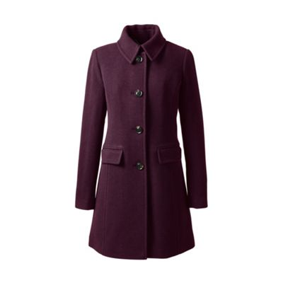 Lands' End   Red Plus Wool Blend Car Coat by Lands' End