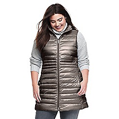 Womens Plus Lightweight Packable HyperDRY Down Long Gilet - 20-22 - BROWN Lands End Good Selling For Sale Fast Delivery Pay With Paypal For Sale Limited New wMJw6SiUr6