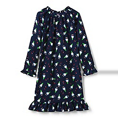 Lands' End - Girls' blue flannel nightie